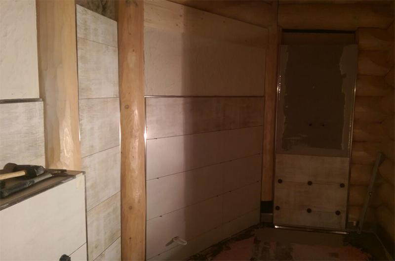 Badezimmer modern Fliesen Sanitär Sauna