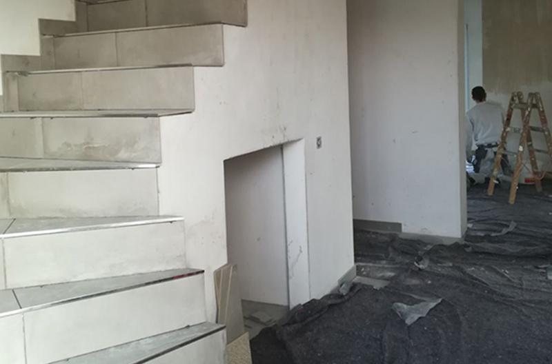 Fliesen Fliesenleger Platten Treppe