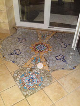 Fliesenleger Fliesen Mosaik Badezimmer